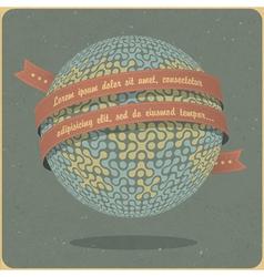 Retro globe symbol vector