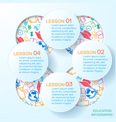 school abstract infographic template vector image