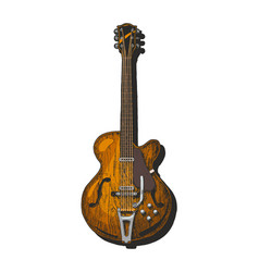 Semi-acoustic guitar vector