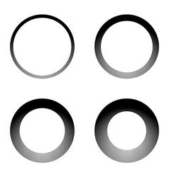 Set of lines textured circular frames vector