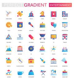 Set trendy flat gradient entertainment vector