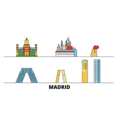 spain madrid city flat landmarks vector image