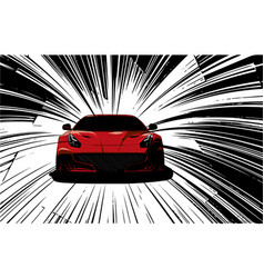 Speed super car in the road vector