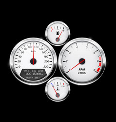 Speedometer tachometer fuel and temperature gage vector
