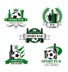 Sport bar icon of soccer ball and football trophy vector