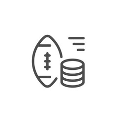 Sports betting line icon vector