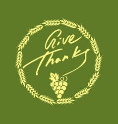 thanksgiving day symbols vector image