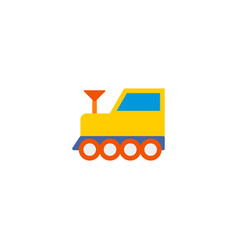 train icon flat element of vector image