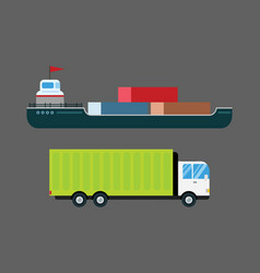 transport delivery isolated white vector image