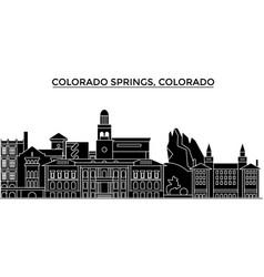 usa colorado springs architecture city vector image