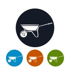 Wheelbarrow Icon Agricultural Tool vector