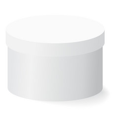White box with shadow on white background vector