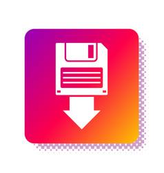 White floppy disk backup icon isolated on white vector