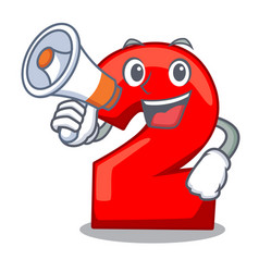 With megaphone cartoon paper number two on letter vector