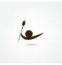 Artist icon vector