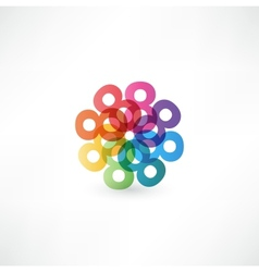 Full color abstract figure of the numbers 8 vector image