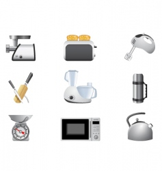household appliances kitchen vector image vector image