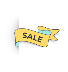 ribbon banner with text sale for discount and vector image