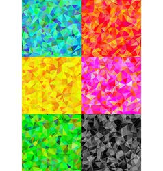Set of six colorful abstract geometric background vector image vector image