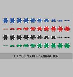 falling gambling chips vector image vector image