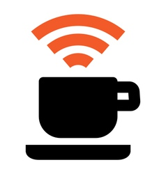 Free Wi-Fi coffee house area vector image vector image