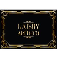 Gatsby art deco vector