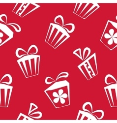 Gift box red pattern for banner graphic or vector image