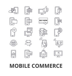mobile commerce shopping online retail sell vector image