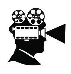 Movie maker producer director vector
