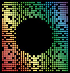 Rainbow color pixel background black copy space vector