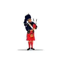 Scottish bagpiper vector image