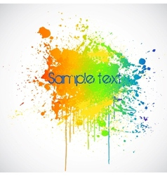 Color paint splashes background vector image vector image
