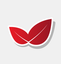 leaf sign new year reddish vector image