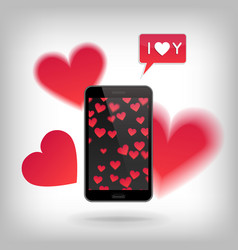 valentine s day and love concept vector image vector image
