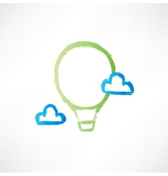 balloon in the clouds icon vector image vector image