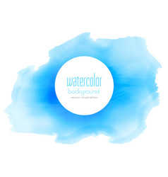 blue ink watercolor stain background vector image vector image