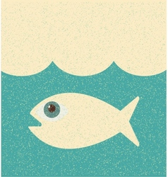 Fish Retro poster vector image vector image