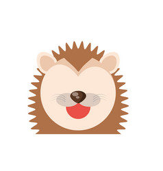 head cute porcupine animal image vector image