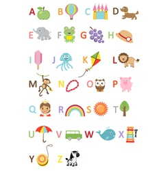 Kids alphabet vector image vector image