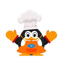 little cute penguin cook abstract cartoon of a vector image vector image
