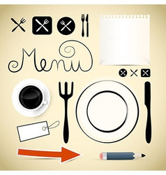 Restaurant Menu Design Elements vector image