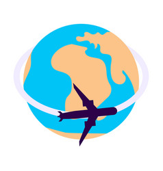 Aircraft world icon vector