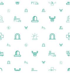 Ambulance icons pattern seamless white background vector