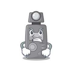 Angry light meter on cartoon table vector
