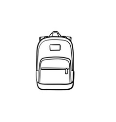 backpack hand drawn sketch icon vector image