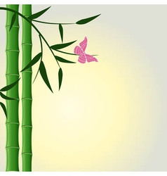Bamboo butterfly background vector