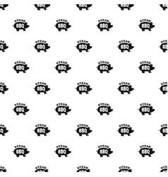 bbq steak pattern seamless vector image