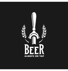 Beer always on tap advertising vintage vector