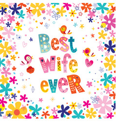 best wife ever vector image