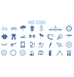 bike suit tool icon set vector image